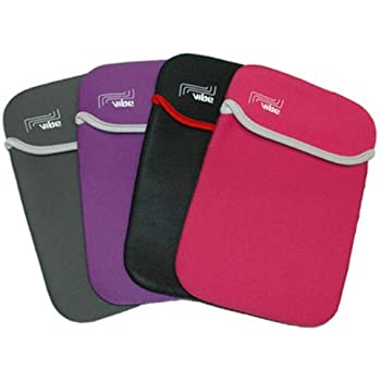 Pink Reversible Neoprene Sleeve Case Cover Pouch For Amazon Kindle 3 3G WIFI - Part of the Crazy4fones Accessory range