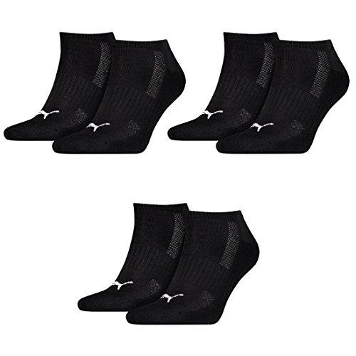 Puma 6 Paar Sneaker Socken mit Frottee-Sohle Gr. 35-46 Unisex Cushioned Kurzsocken, - Socken Puma Sneaker Frottee