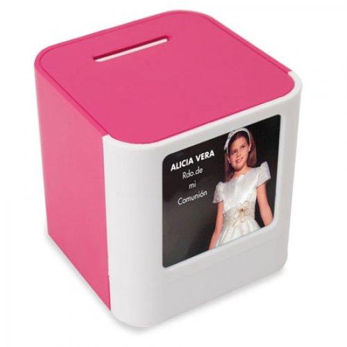 Lote de 20 Huchas Portafotos Porta Fotos Rosa - Ideal para Personalizar Personalizada para Comuniones Niñas
