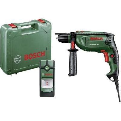 Bosch PSB 680 RE + PMD 7 1-Gang-Schlagbohrmaschine 680 W incl. Koffer, incl. Ortungsgerät
