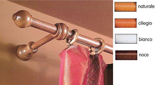 Bastone a strappo diametro mm.23 supporti 15cm lunghezza 140cm color ciliegi confezione da 1pz