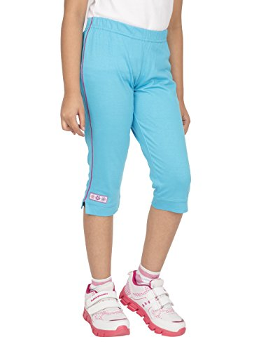 OCEAN RACE Girls attarctive Colors Cotton Capris(3/4 Th Pant)-Pack of 3 (6-7 Years, Colors-White,A.Blue,Black)