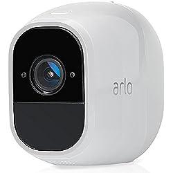 Arlo Pro 2 Smart Home Zusatz-Security-Überwachungs Kamera (Alexa kompatibel, 130 Grad Blickwinkel, Nachtsicht, Wetterfest, 2-Wege Audio) weiß