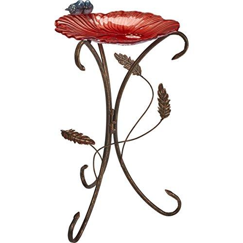 den Geschenke Koralle rot Blume Blütenblatt mit Bluebirds Vogeltränke 185002 ()