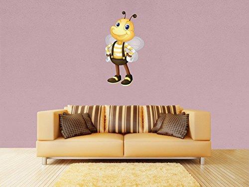 Wandsticker Biene mit Latzhose Wandaufkleber WS00000159 | M - mittel 58x110cm