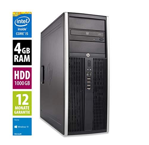 PC | Computer | Intel Core i5-3470 @ 3,2 GHz | 4GB DDR3 RAM | 1000GB HDD | DVD-Laufwerk | Windows 10 Home (Zertifiziert und Generalüberholt) ()