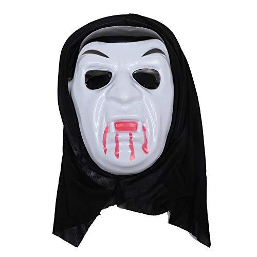 Ssowun Halloween Maske,Scream Ghostface Maske Halloween Horror Maske für Costume Accessory Halloween Fools Day Trick Party,Prop Dress-up EINWEG verpackung