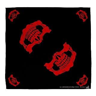 Schwarz/Rot Totenkopf Maske Mundtuch Kopftuch Bandana Halstuch