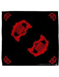 Negro/Rojo Calavera Máscara Boca Bandana Pañuelo Pañuelo