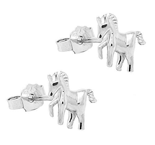 925-Sterling-Silver-Unicorn-Stud-Earrings-Premium-Themed-Gift-Box