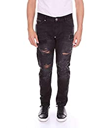 Philipp Plein Hombre MDT0785PDE001N02HB Negro Algodon Jeans