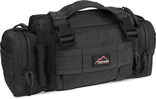 normani Taktische Umhängetasche mit MOLLE-System für den Rucksack als Zusatztasche 1000 D Farbe Schwarz
