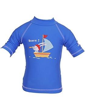 Piwapee - Top bebé nadador Lycra Anti Uv protección UPF50+ Conejo Azul
