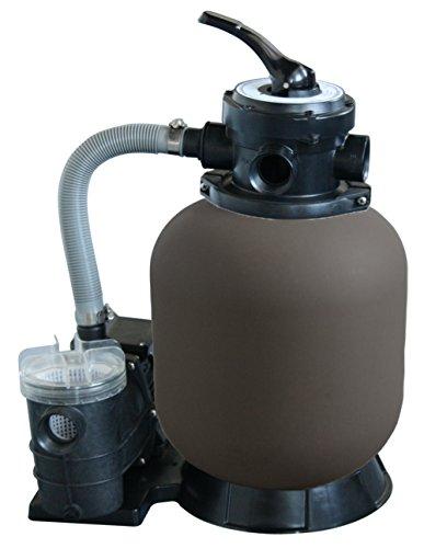 WelaSol Sandfilteranlage Beta Top 350/7, Filterkessel mit Pumpe für Schwimmbad bis max. 25m³ / Pool Filteranlage