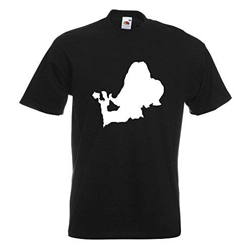 KIWISTAR - Chiemsee - Deutschland - See T-Shirt in 15 verschiedenen Farben - Herren Funshirt bedruckt Design Sprüche Spruch Motive Oberteil Baumwolle Print Größe S M L XL XXL Schwarz