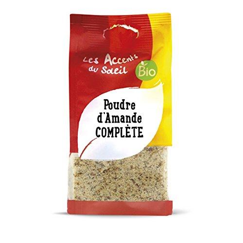 Poudre d'Amandes Bio extra fine, Amandes entières complètes broyées, amandes moulues, farine d'amandes   125g   Les Accents du Soleil