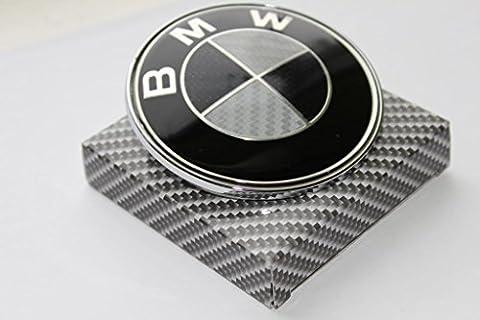 Dunwoth BMW Emblem Carbon Bonnet Emblem Tail Gate 13Series 5Series 6Series 7Series 74mm