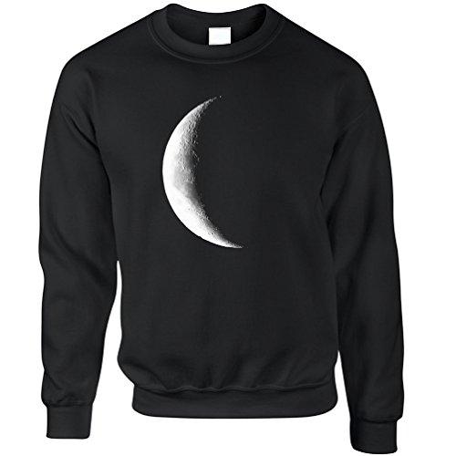 half-moon-galaxy-space-waning-crescent-phase-lunar-stars-astronomy-gift-sweatshirt
