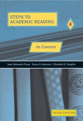 Steps to Academic Reading 4: Developing Academic Reading Skills