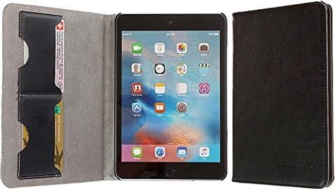 3Q Luxueuse Coque iPad Mini 4. Vrai Cuir véritable. Nouveau Mai 2016. Étui iPad mini 4 Housse en vrai cuir naturel. Top Design Exclusif Suisse. Noir