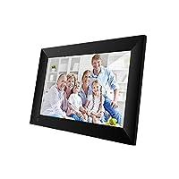 Digital Photo Frames - WiFi 10.1 Inch Digital Picture Frame 1280 x 800 IPS Press Screen 1G+16G Smart Photo Frame Control with Detachable Holde (Black EU Plug)