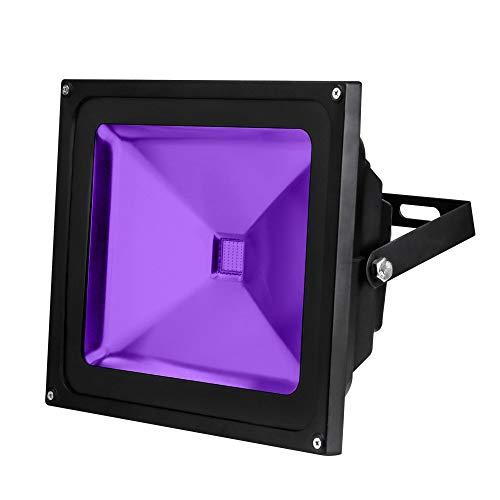 CCLAY Schwarzlicht UV-Licht wasserdichte Outdoor Led-Lampe Flutlicht für Neon im Dunkeln leuchten Partei Parteien Liefert Bar DJ (10 Watt, 20 Watt, 30 Watt, 50 Watt),50W -