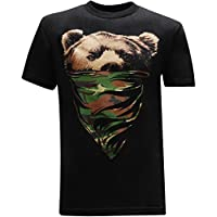 tees geek California Republic Camo Bandana Bear Men's T-Shirt - XL
