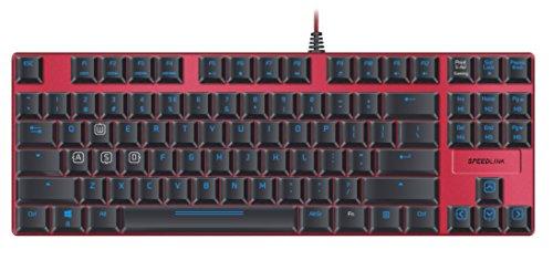 Speedlink ULTOR Illuminated Mechanical Gaming Keyboard - US Layout (Illuminazione, Anti-Ghosting, Macro-Editor, Memoria interna) nero