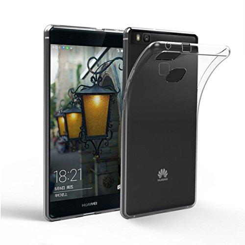 Cover Huawei P9 Lite Custodia , Leathlux Copertura Ultra Morbido Cristallo Protezione antiurto Silicone Custodie Bumper Caso Case per Huawei P9 Lite 5.2