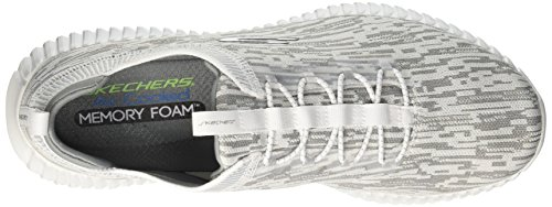 Skechers Elite Flex-Hartnell, Sneaker Infilare Uomo Bianco (White/grey)
