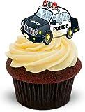 The Baking Girls - Police Car - décoration de gâteau comestible 2x feuilles A5 - 12 images