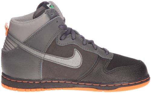 Nike, Dunk High Nd (Ps), Sneaker, Ragazzo Mid Fog/Ttl Orange-Black-Light Charcoil