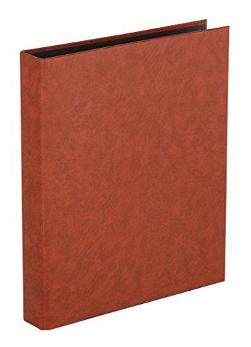 Herma 7557 Foto Ringalbum Classic braun (Format 26,5 x 31,5 cm) 4 Ringe, für max. 30 Blatt/60 Seiten, Kunststoff Vinyl, 1 Fotoalbum Ringbuch