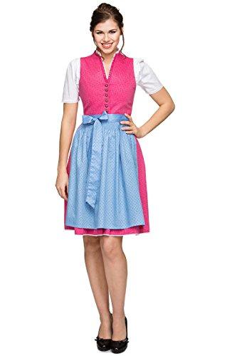 Stockerpoint Mididirndl Angela 2tlg. 60cm pink, 40