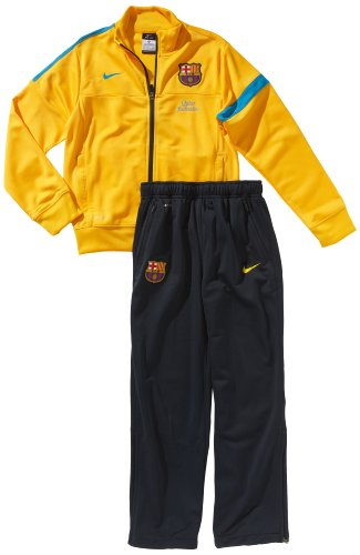 Nike Jungen Trainingsanzug FC Barcelona Sideline Knit Warmup, University Gold/Dynamic Blue, XL, 486005-720