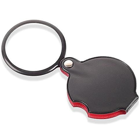 home-organizer Tech 8x Mini Pocket faltbar Lupe Objektiv Juwelier Lupe Lupe schwarz Best für Schmuck Identifizieren von Typ, Diamanten, (Pocket Viewer)