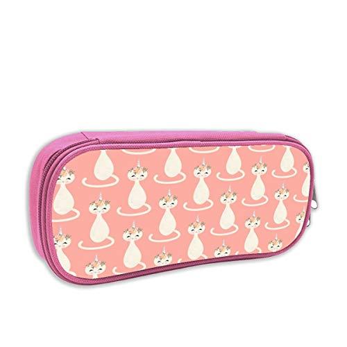 astuccio per bambini portatutto,Caticorn 鈥? Cute Unicorn Cat (peach) _4271, rosa