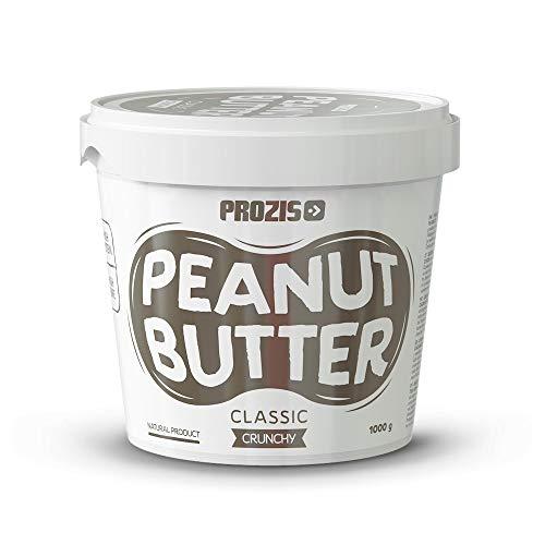 Prozis burro di arachidi classico 1000 g croccante - con pezzi di arachidi, fatto di arachidi tostate a secco, altamente proteico, alto contenuto di fibre, ottima fonte di vitamine e minerali,