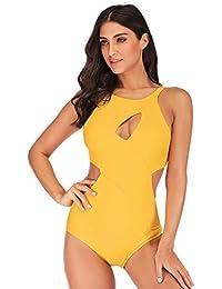 f9f93b12f FeelinGirl Mujer Monokini con Uno Dos Tirantes Traje de Baño de Una Pieza  Talla Grande