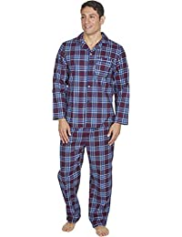 Mens Brushed Pure 100% Cotton Pyjamas Winter Warm Flannel Thermal M L XL XXL bf9dfb0cd