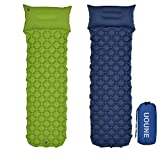 UOUNE Ultralight Sleeping Mat with Pillow Inflatable Air Camping Pad - Waterproof