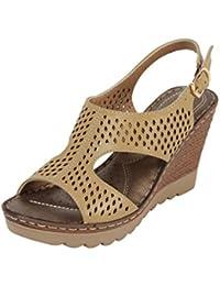 Catwalk Cream Heeled Sandals
