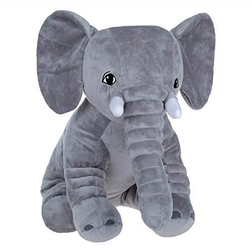 HUYDLD Heimtierbedarf Haustier-Hundespielzeug-Welpen-kurzes Plüsch-kleines Schwein-niedliches Elefant-Haustier-Kissen angefülltes graues eine Größe -
