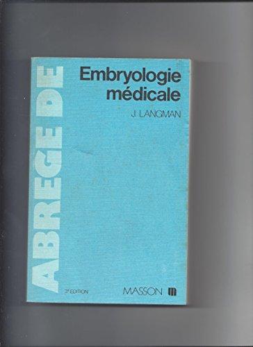 Abrégé d'embryologie médicale