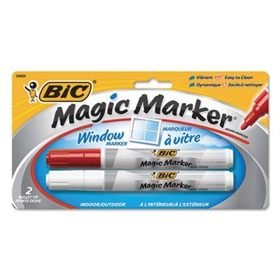 magic-marker-brand-window-markers-bullet-red-white-2-pk-sold-as-2-each-by-bic