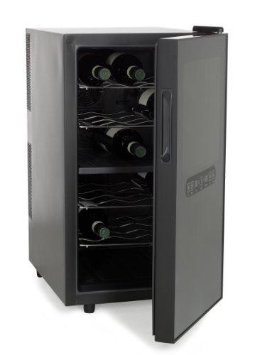 AMSTYLE Weinkühlschrank 48 Liter 35,5x64,5x50cm Getränkekühlschrank 2 Zonen | Design Flaschenkühlschrank mit Glastür | Getränkekühler Flaschenkühler elektrisch | Kühlschrank für Getränke freistehend