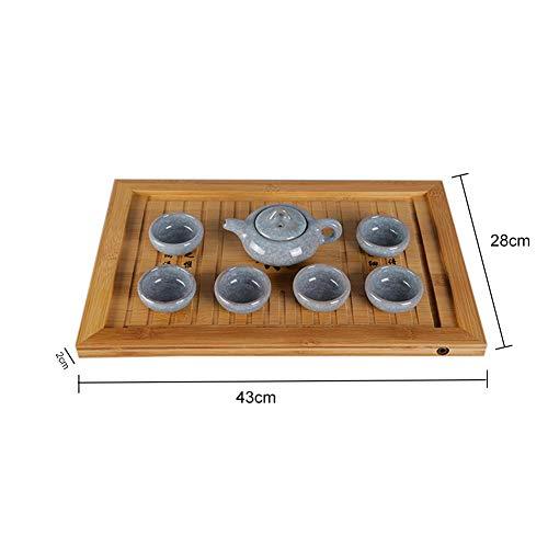 Chinesischen Gongfu Tee Tisch, Bamboo Mini Platz Tee tablett Kungfu Tee & Kaffee Tablett
