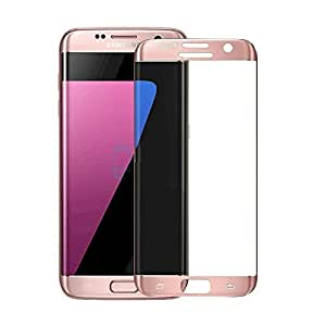 Samsung Galaxy S7 Edge Full Sreen Edge to Edge 3D Curved Tempered Glass Screen Protector - Rose Gold