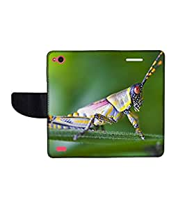 KolorEdge Printed Flip Cover For Gionee Elife E3 Multicolor - (45KeMLogo10396GioneeE3)