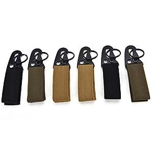 416gUays9bL. SS300  - SevenMye Tactical Hanging Belt Carabiner Hook Webbing Buckle Strap Clip Backpack